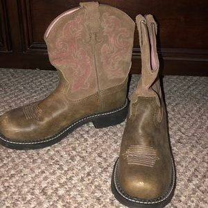 Ariat Women's 8B Fatbaby II brown Leather Boots